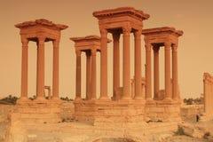 Tetrapylon en el Palmyra, Siria Foto de archivo libre de regalías