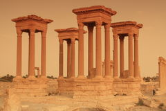 Tetrapylon no Palmyra, Syria Foto de Stock Royalty Free