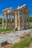 Tetrapylon ruins of ancient Aphrodisias Turkey Royalty Free Stock Images