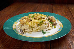 Tetrazzini is an American dish Royalty Free Stock Photos