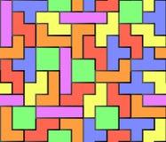 Tetris无缝的背景 免版税库存照片