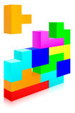 Tetris. Classic tetris game pieces fit together stock illustration
