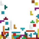Tetris. Color background with tetris design Stock Photography