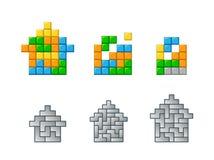 Tetris ilustración del vector