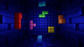 Tetris abstrakcja obraz stock