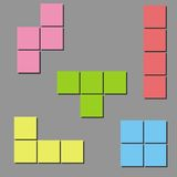 Tetris Background. Vector Stock Photography
