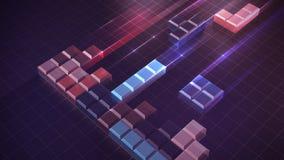 Tetris-blokkenconcept de bouw en probleem het oplossen Stock Foto
