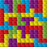 Tetris board background Royalty Free Stock Images