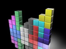Tetris game Stock Image
