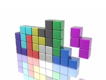 Tetris game Royalty Free Stock Photo
