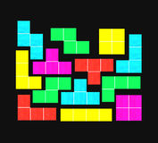 Tetris game Royalty Free Stock Image