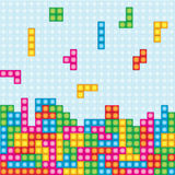 Tetris game box colorfull vector Stock Photography
