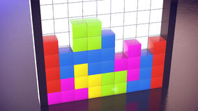 Tetris game Stock Images