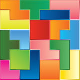Tetris game pieces Royalty Free Stock Images