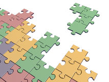 Tetris game with puzzle piece Royalty Free Stock Photo