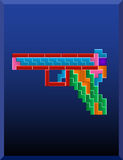 Tetris gun Stock Image