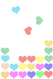 Tetris hearts Royalty Free Stock Image