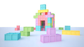 Tetris house Stock Photos