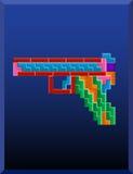 Tetris-kanon stock illustratie