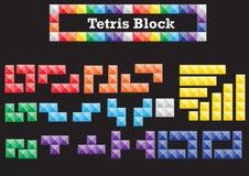 Tetris kvarter arkivfoton