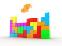 Tetris lek royaltyfri illustrationer