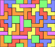 Tetris seamless  background Royalty Free Stock Photo