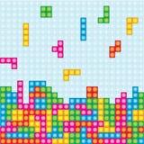Tetris-Spielkasten colorfull Vektor Stockfotografie