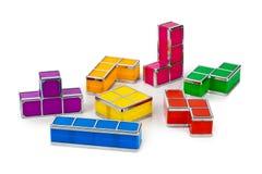 Tetris-stuk speelgoed blokken royalty-vrije stock fotografie