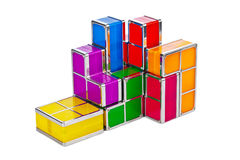 Tetris toy blocks Royalty Free Stock Image