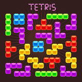 Tetris vector elements in flat design style Royalty Free Stock Images