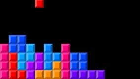 Tetris-Videospiel in Alpha Channel vektor abbildung