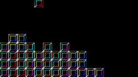 Tetris-Videospiel-Digital-Art in Alpha Channel vektor abbildung