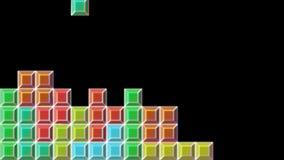 Tetris-Videospiel-Würfel in Alpha Channel lizenzfreie abbildung