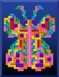 Tetris-vlinder Royalty-vrije Stock Afbeeldingen