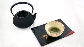 Tetsubin和茶 库存照片