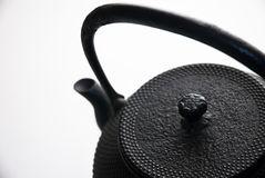 Tetsubin. Traditional Japanese cast-iron pot used to heat water and for brewing tea Stock Image