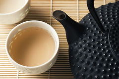 Tetsubin and Tea Cups Royalty Free Stock Photos