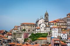 Tetti arancio del Portogallo Fotografia Stock