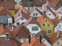 Tetti - Bergen, Norvegia Fotografie Stock Libere da Diritti
