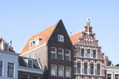 Tetti d'annata delle costruzioni a Rotterdam, Paesi Bassi Fotografia Stock Libera da Diritti