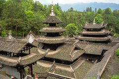 Tetti del palazzo nella città antica imperiale di Enshi Tusi in Hubei Cina Immagini Stock