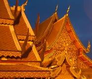 Tetti del tempio buddista Fotografia Stock Libera da Diritti