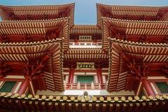 Tetti del tempio del dente di Buddha a Singapore Fotografie Stock