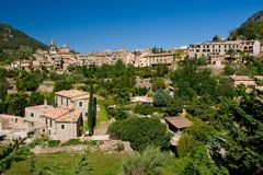 Tetti del villaggio di Majorca Immagini Stock