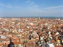 Tetti della città di Venezia Immagine Stock Libera da Diritti