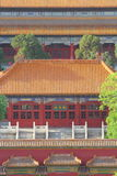 Tetti della Città proibita a Pechino Fotografia Stock Libera da Diritti