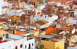 Tetti della città spagnola ordinaria Fotografia Stock Libera da Diritti