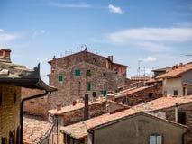 Tetti in della Pieve di Citta in Umbria Fotografia Stock
