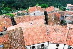 Tetti della Toscana immagine stock
