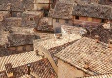 Tetti delle case Urbino L'Italia, Marche Fotografia Stock Libera da Diritti